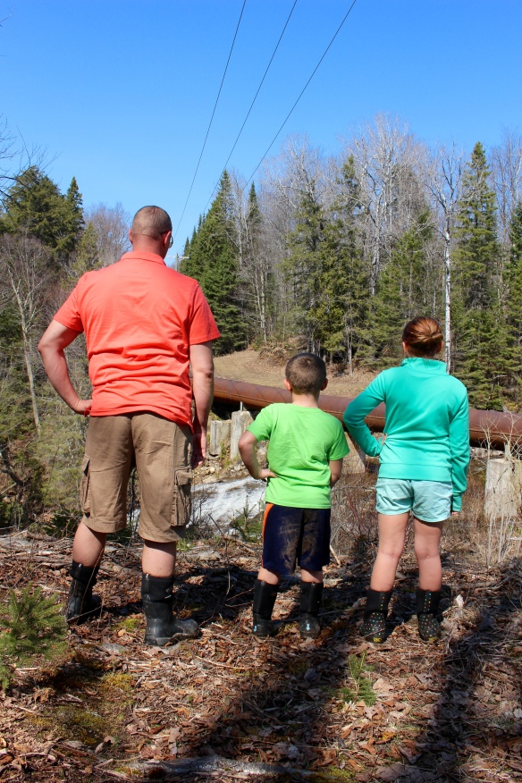 John, Lukas, and Avalon. You have to love spring hikes in the U.P. Shorts and Bog Boots! ;)