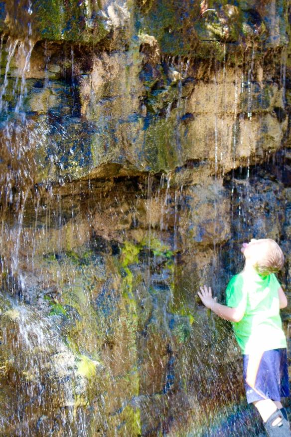 Luke and Avalon loved splashing around.