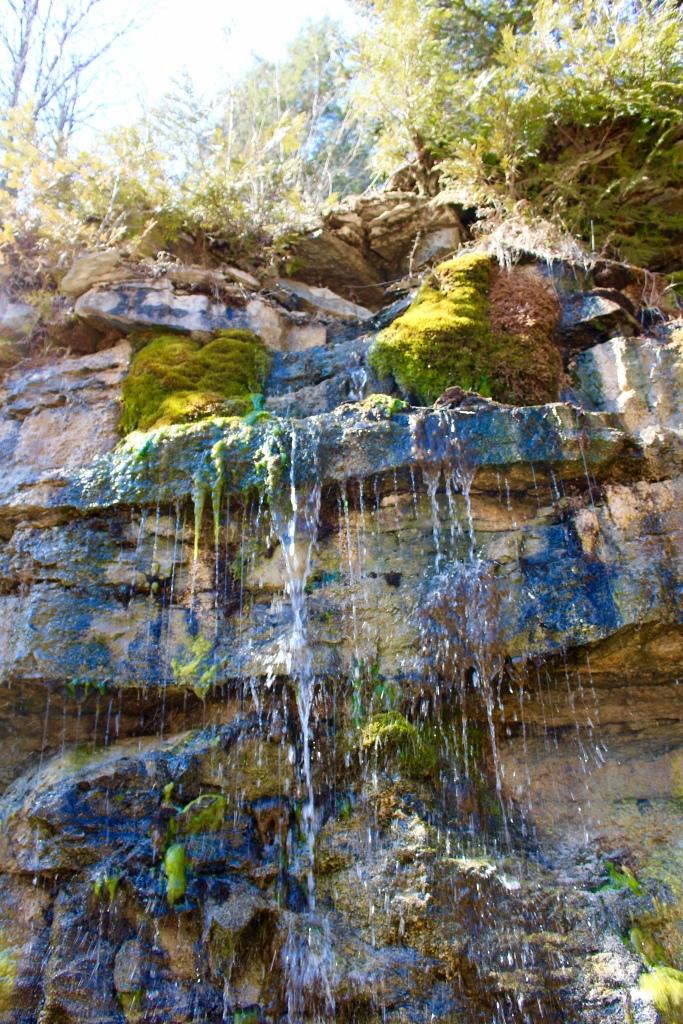A mini falls at Autrain Falls.