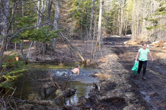 "A little ""dip"" in the creek on our property."