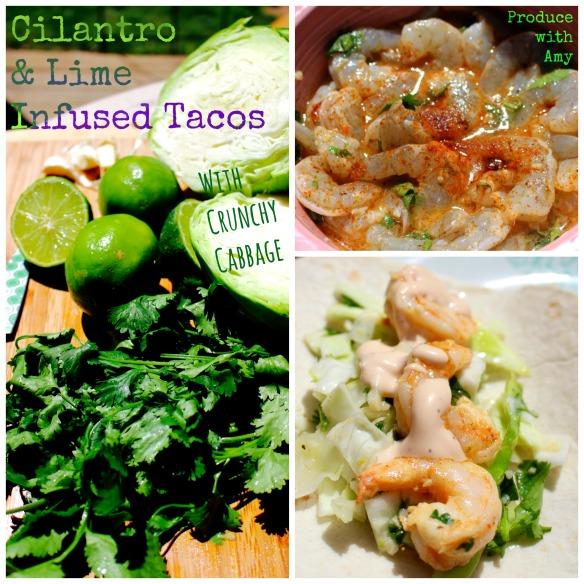 Cilantro & Lime Infused Shrimp Tacos