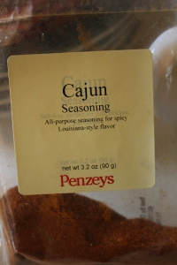 I recently fell in love with Penzeys spices. My husband enjoys this Cajun spice in alfredo pasta and on eggs too.