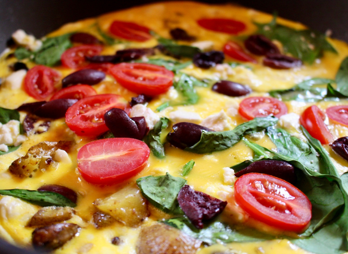 GREEK FRITTATA – CASUAL, YET ELEGANT, ONE PAN BRUNCH