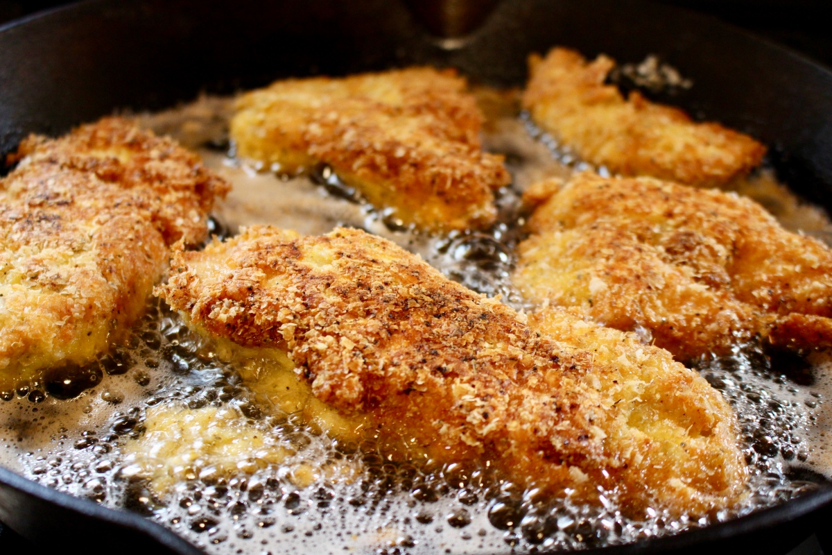 Potato Encrusted Fried Chicken