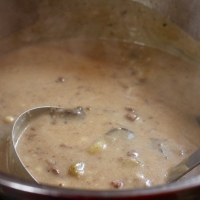 MUSHROOM SWISS BURGER SOUP: A SIMPLE PLEASURE